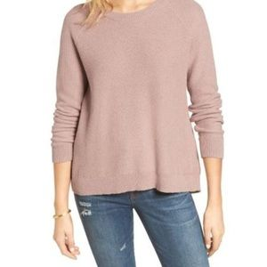 Madewell lavender province cross-back sweater